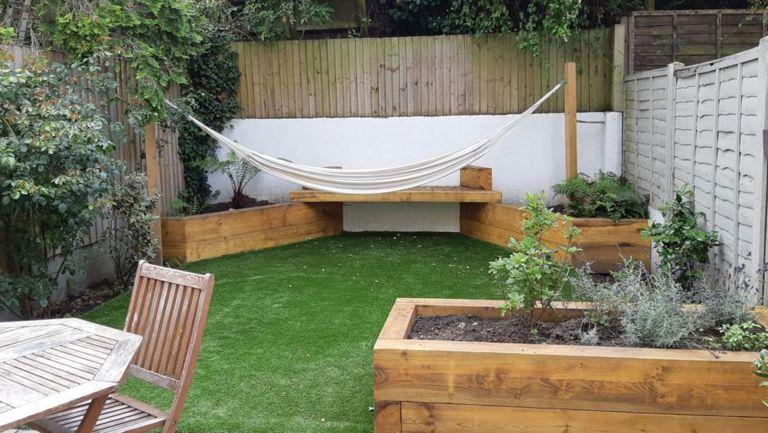 sleeper planters with hammock