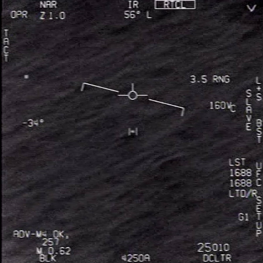 """The """"GoFast"""" UAP, observed by a U.S. Navy jet in 2015. (Image credit: DOD/U.S. Navy)"""