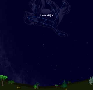 Big Dipper Sky Map April 2012