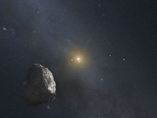 Artist's impression of a Kuiper Belt object orbiting about 4 billion miles from the sun.