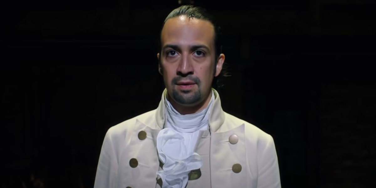 Lin-Manuel Miranda as Alexander Hamilton in Hamilton (2020)