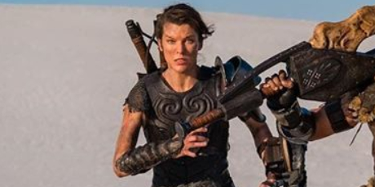 New Monster Hunter Poster Proves Milla Jovovich S Movie Actually Stars That Massive Sword Cinemablend