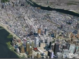 Google Earth's vision of New York City - is the search giant about to make a major acquisition of travel info specialists ITA?