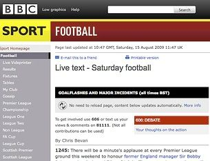 BBC Sports to hit the iPhone this April