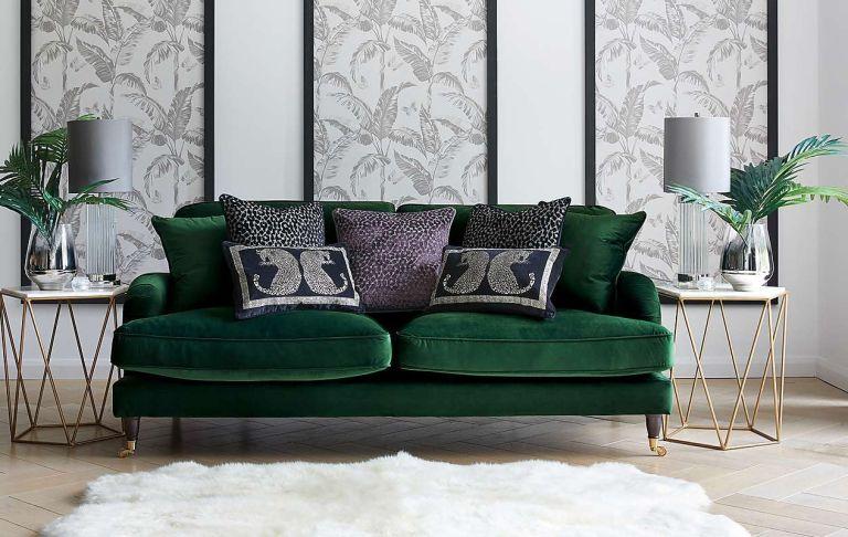 Dunelm furniture sale green velvet sofa