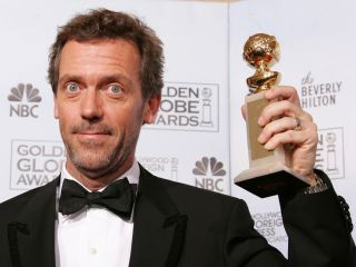 House star Hugh Laurie is hoping this Golden Globe magically turns into a Grammy