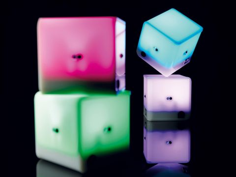 Hip to be square: the AudioCubes certainly turn heads.