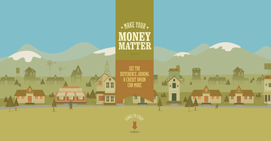 Example of parallax scrolling websites: Make Your Money Matter