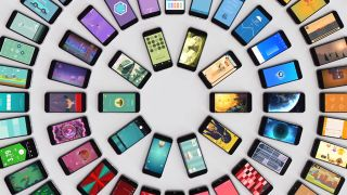 iPhones in a circle