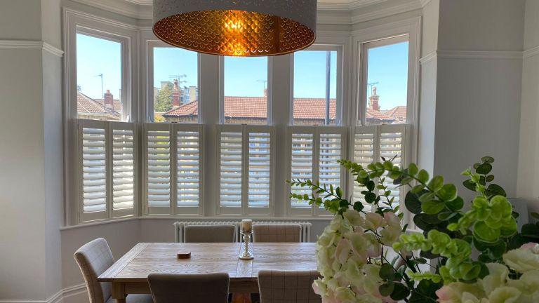Shuttercraft shutters in dining room