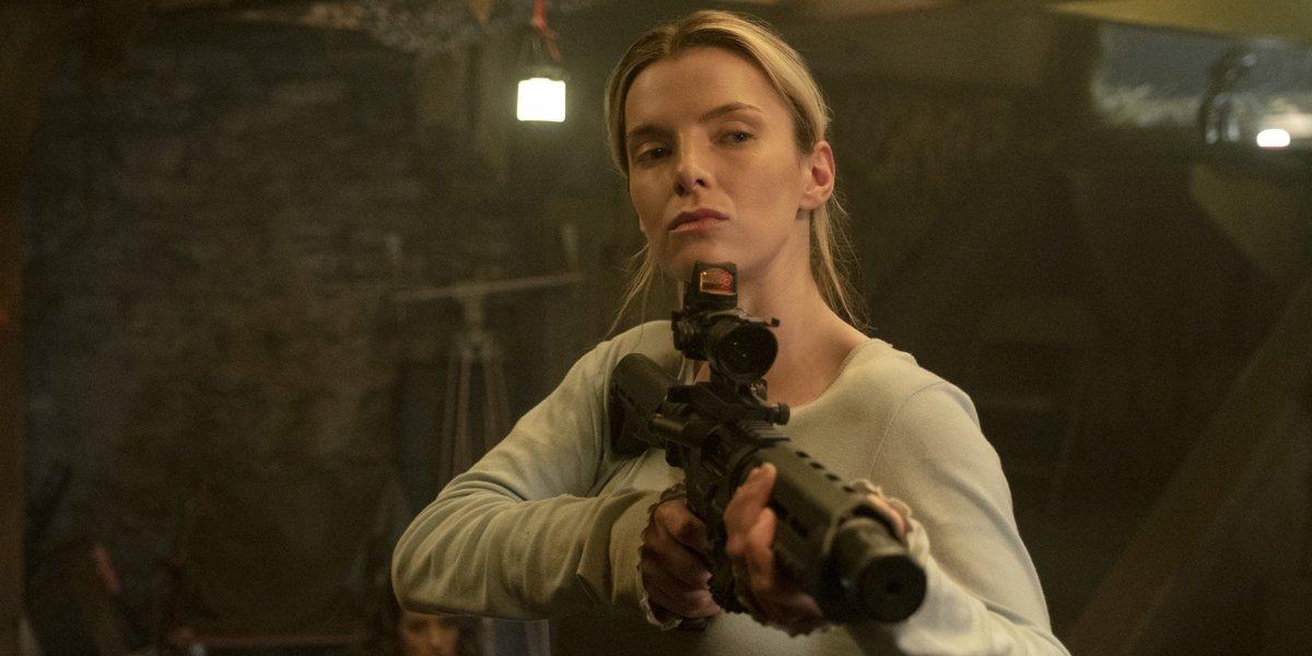The Hunt Betty Gilpin holding a gun
