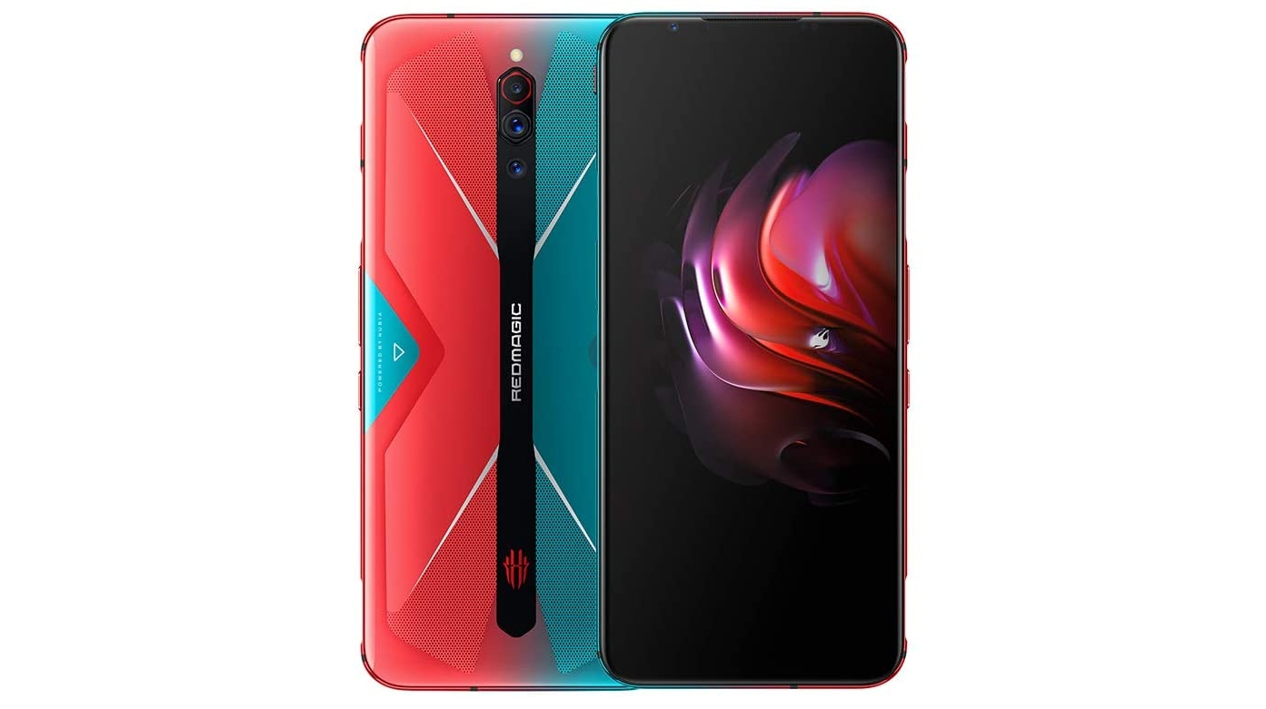 A Nubia Red Magic 5G against a white background