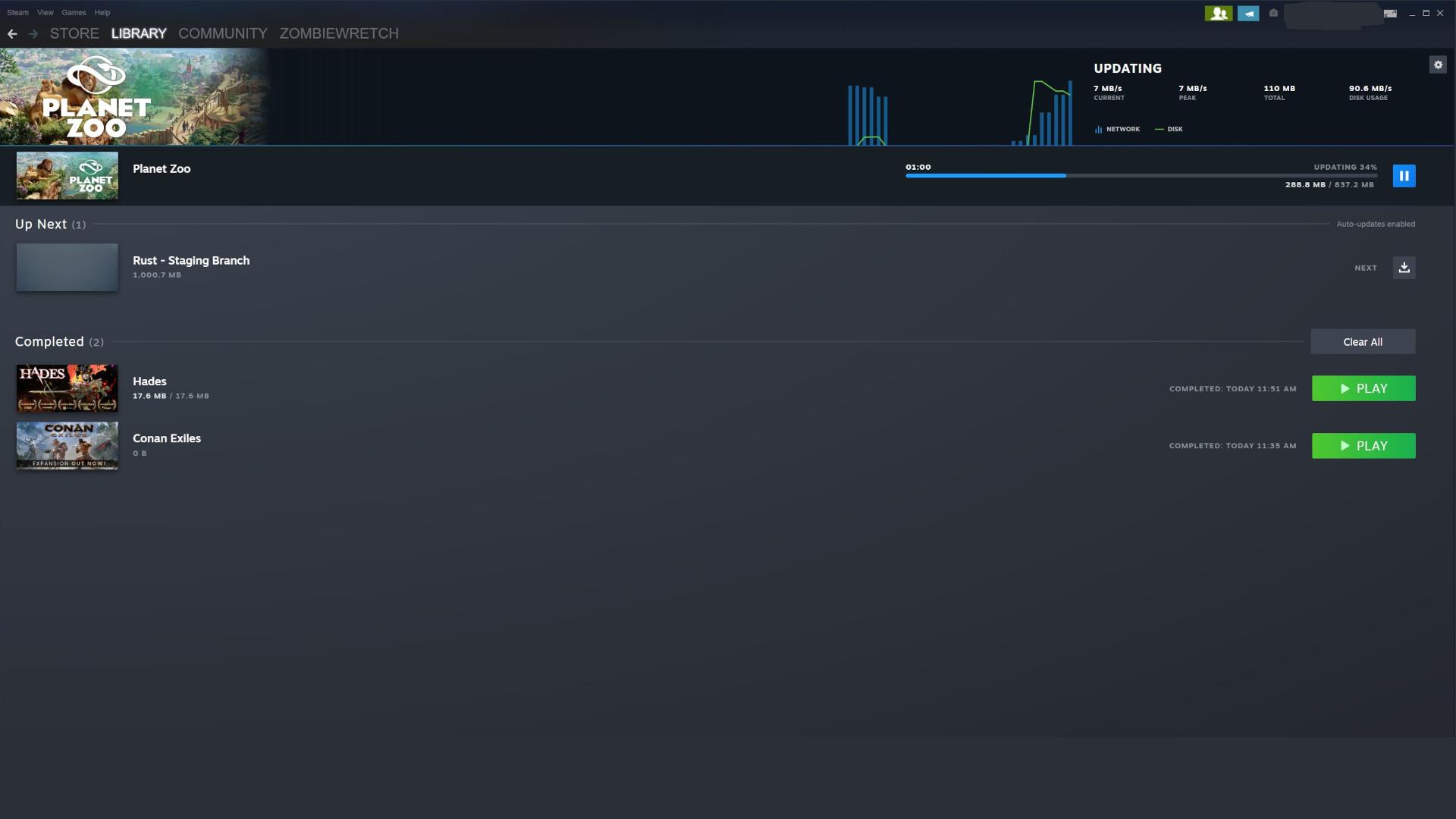 Screenshot of new Steam Client Update