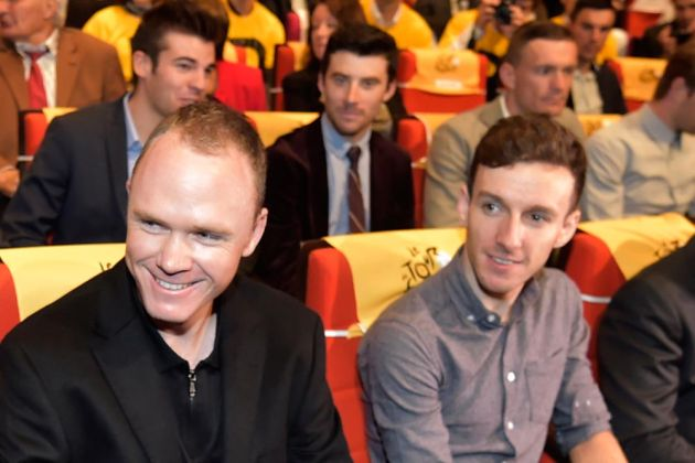 Chris Froome and Adam Yates at the 2017 Tour de France Presentation