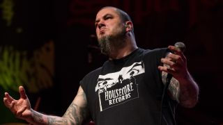 A photograph of singer Phil Anselmo