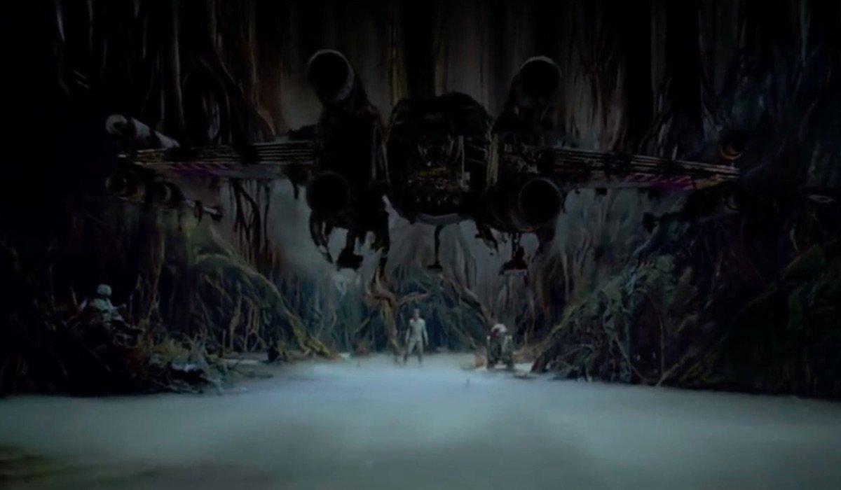 Yoda raising X-Wing in The Empire Strikes Back