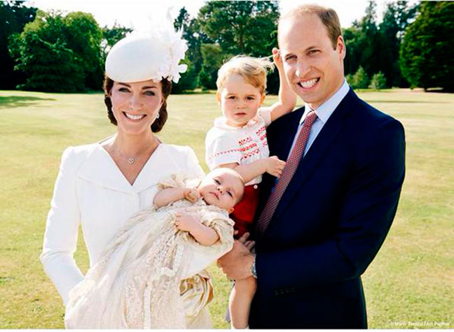 Catherine, Princess Charlotte, Prince George and Prince William photo