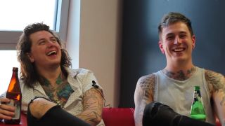 Ben Bruce and James Cassells in the video
