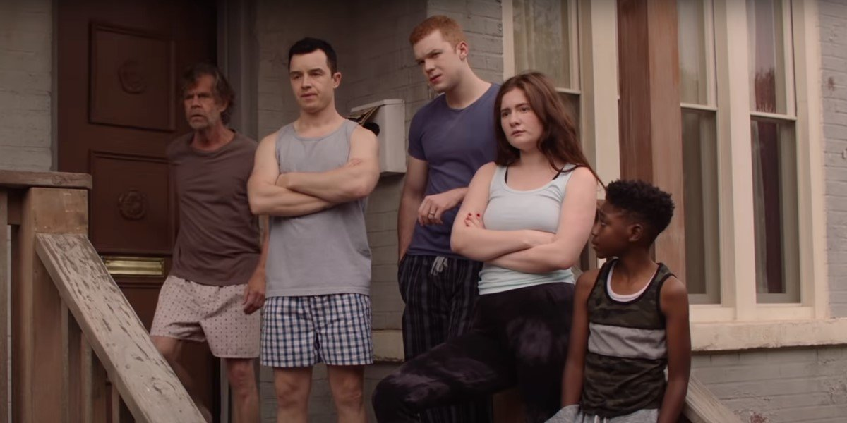 gallagher family on front porch in shameless final season