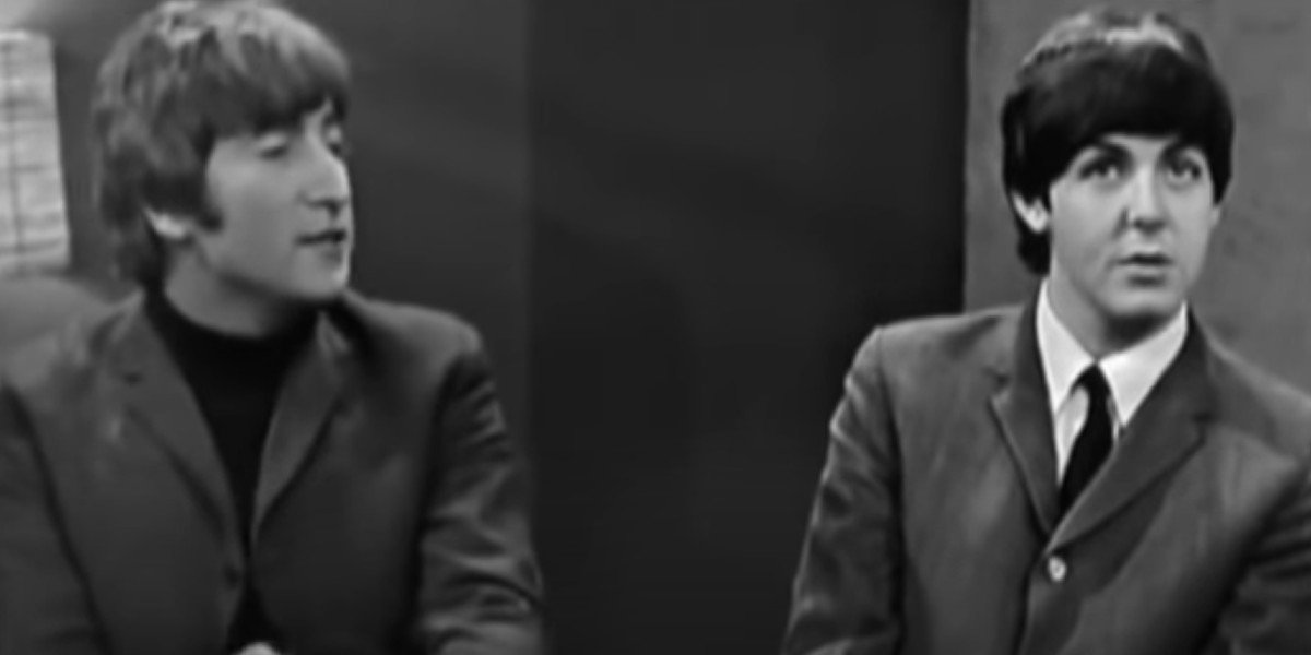 Paul McCartney and John Lennon doing an interview