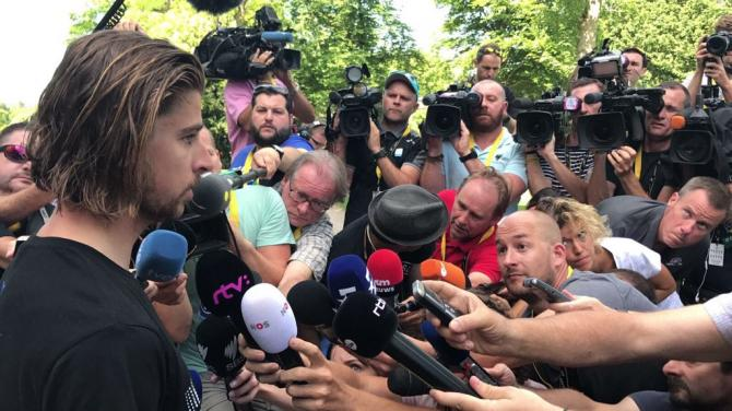 Peter Sagan denied he did anything wrong in the Vittel sprint