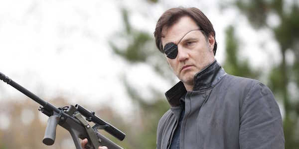 The Governor in The Walking Dead during Season 3.