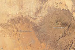 Emi Koussi and Aorounga, Chad, craters