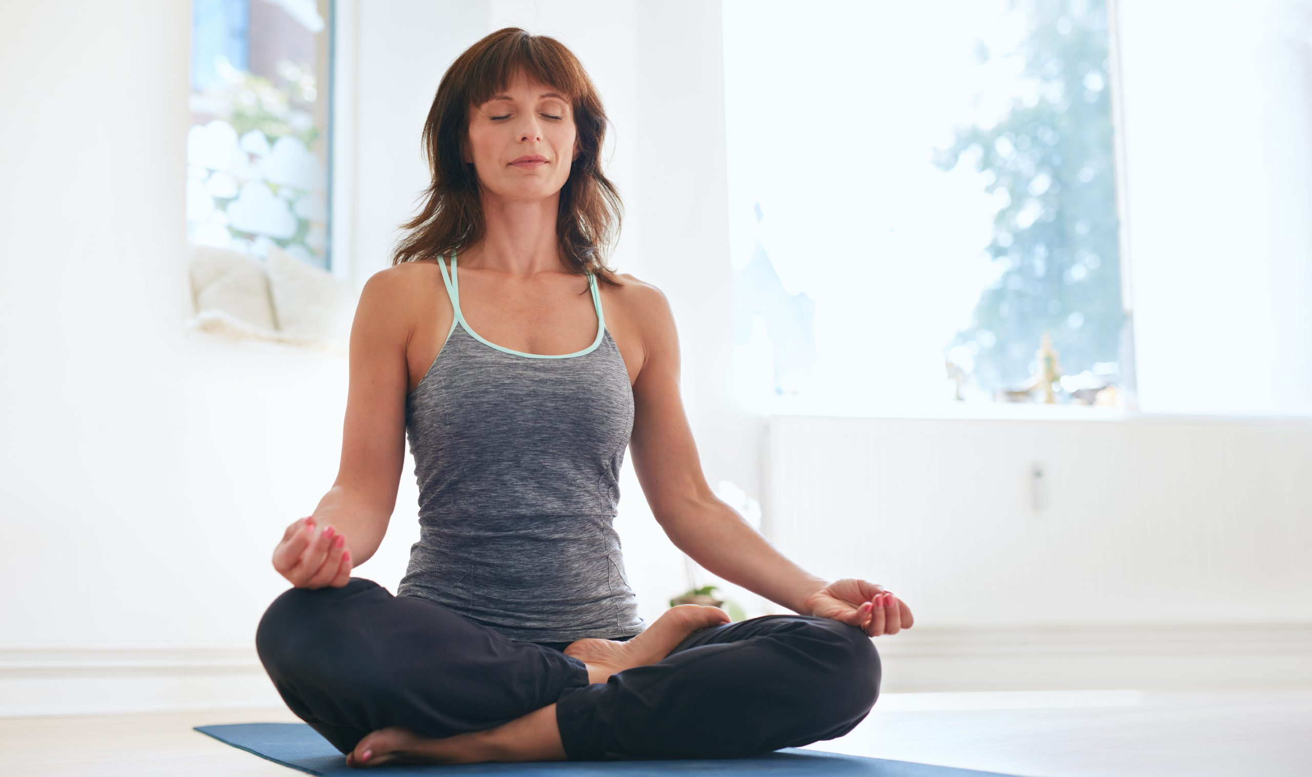Simple breathing technique for menopause symptoms