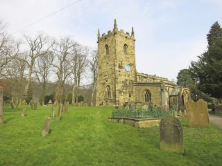 The church in the English village of Eyam.