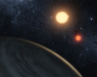 Tatooine Planet with Two Suns