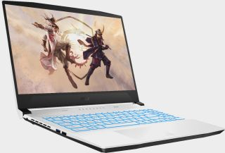 MSI Sword gaming laptop in a white color