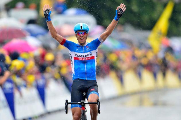 Ramunas Navardauskas wins stage nineteen of the 2014 Tour de France