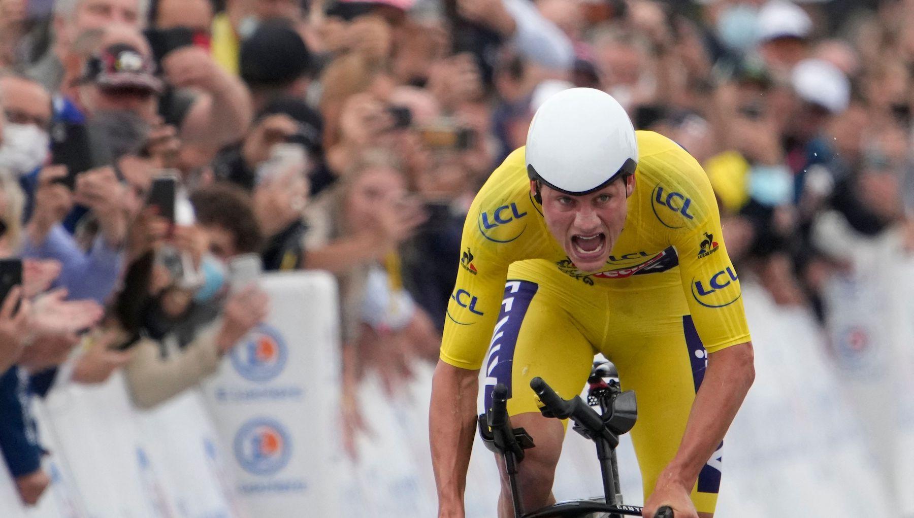 Mathieu van der Poel keeps yellow on stage five of the Tour de France
