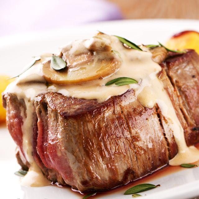 steak blue cheese mushroom sauce