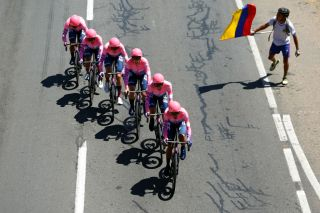 EF Pro Cycling power to victory on the opening stage – a team time trial – of the 2020 Tour Colombia 2.1
