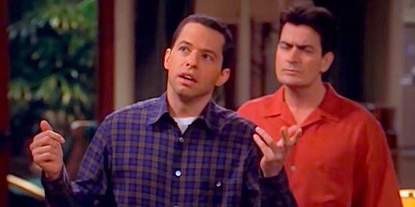 Alan and Charlie Jon Cryer Charlie Sheen Two and a Half Men CBS