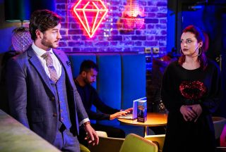 Gray Atkins and Whitney Dean in Ruby's in EastEnders