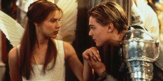Leonardo DiCaprio and Claire Danes in _Romeo + Juliet._