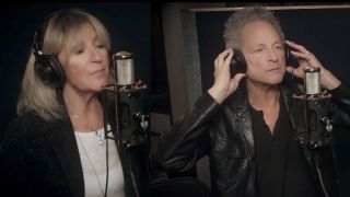 Christine McVie and Lindsey Buckingham in the studio