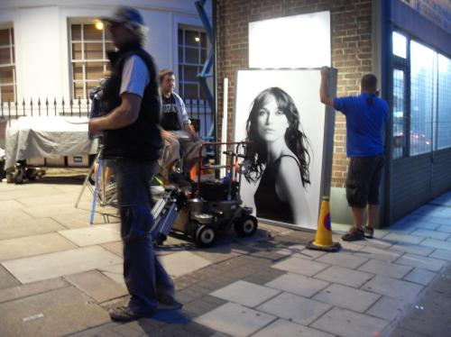 From the Stockwell set of London Boulevard - Keira Knightley's the actress on the poster