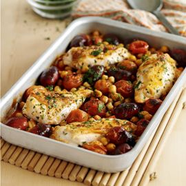 Oven-Baked Chicken Breasts with Chorizo and Chickpeas