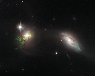 Green Filament in Galaxy UGC 11185
