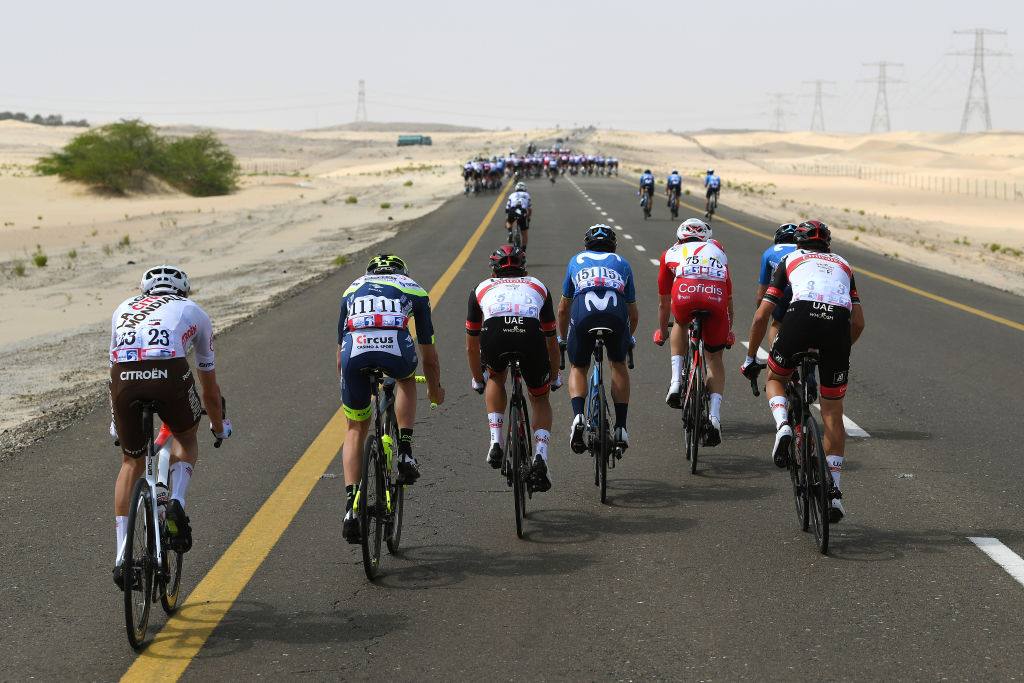 It was hard at the back at the UAE Tour