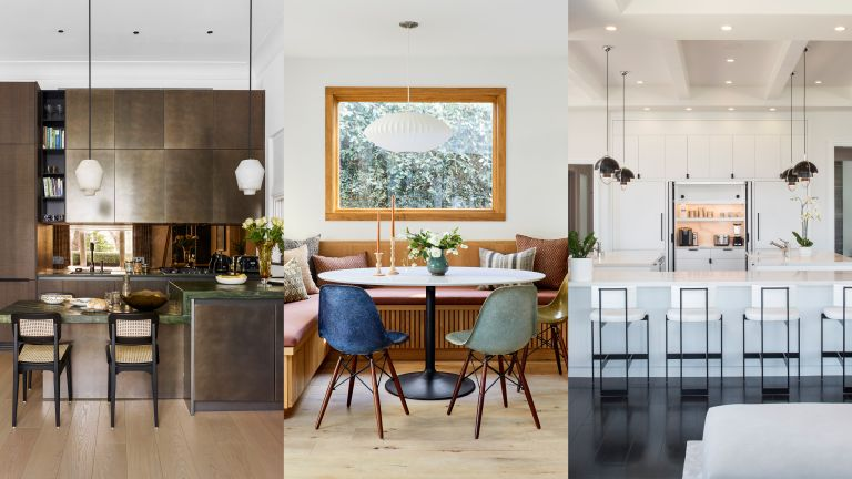A composite of kitchen lighting ideas