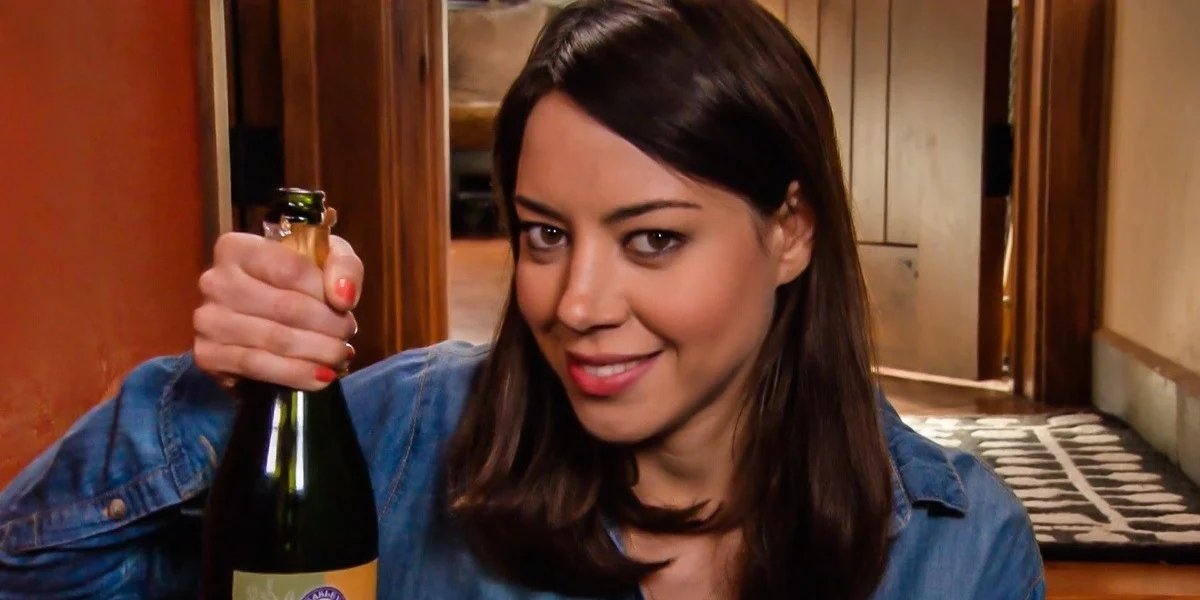 Aubrey Plaza as April Ludgate on Parks and Recreation
