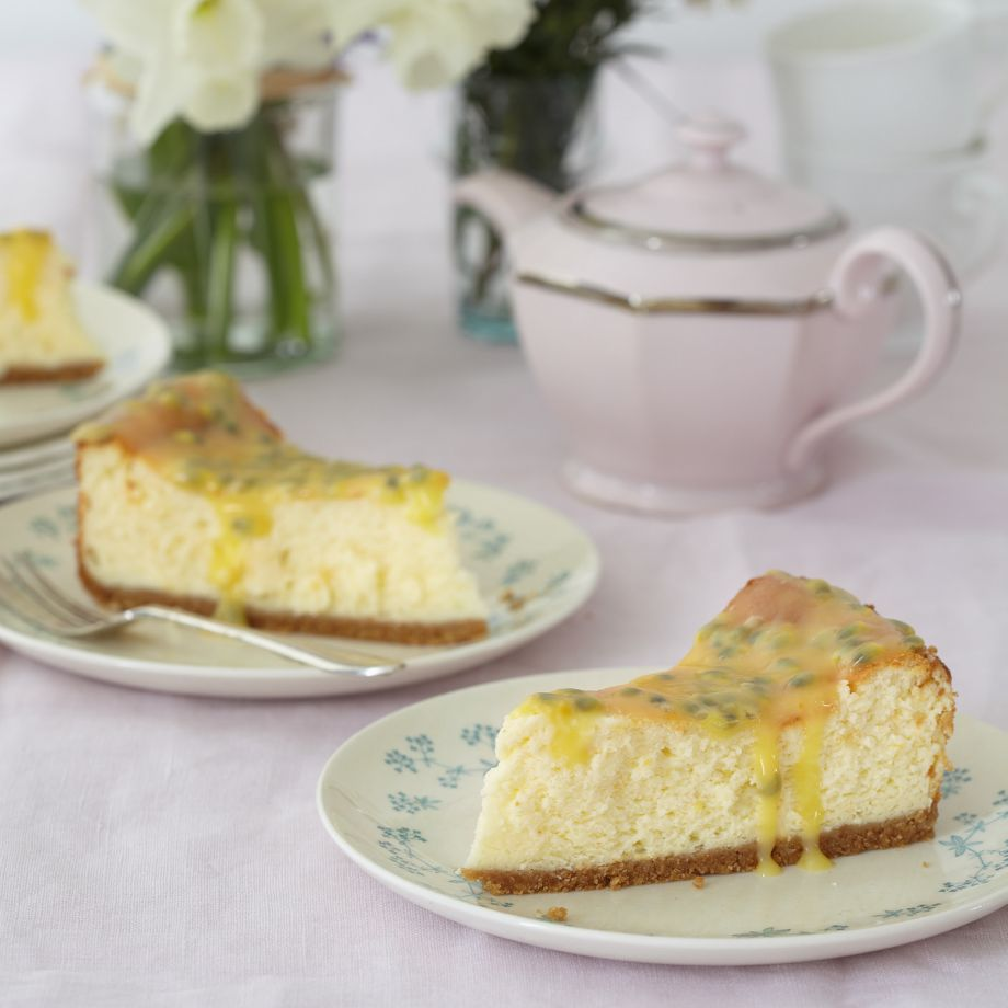 Mary Berry's Passion Fruit and Lemon Baked Cheesecake Recipe