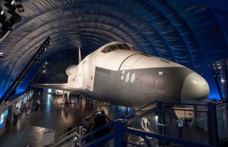 Space Shuttle Enterprise Inside Original Pavilion