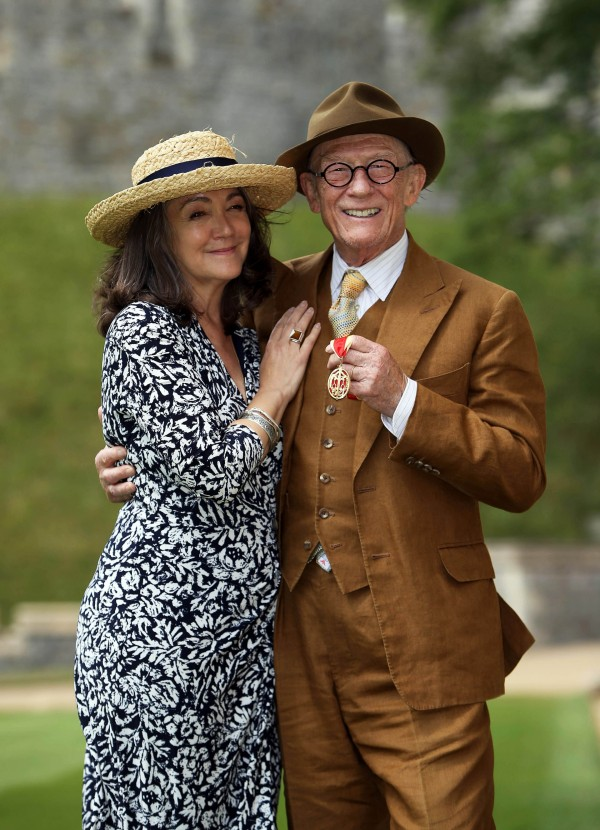 John Hurt and wife Anwen at Windsor Castle