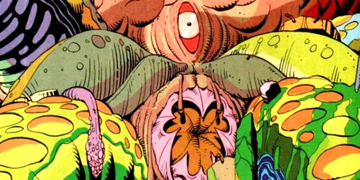 Squid alien monster in Watchmen comic