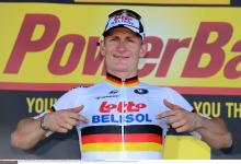 Andre Greipel makes it clear who his sponsors are